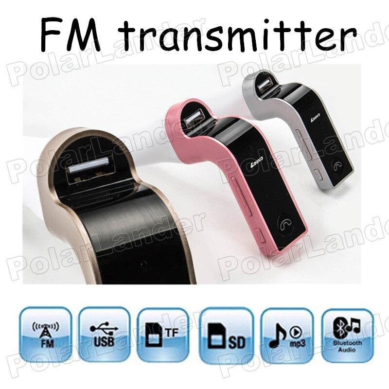 Características Carregador USB kit car MP3 player entrada Auxina G7 CARRO modulador FM Bluetooth suporte TF/cartão SD de Música jogador