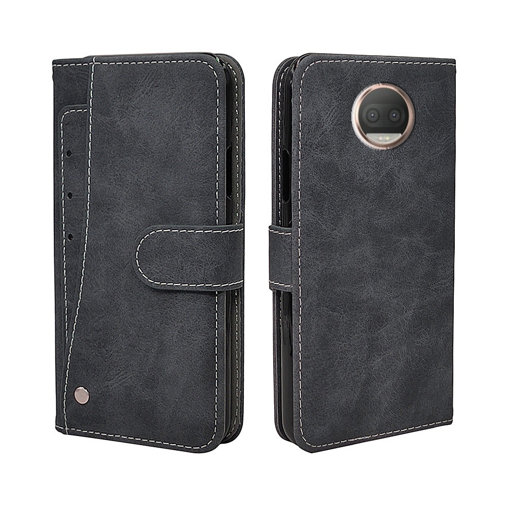 Luxury Vintage Case For Motorola Moto E6 E5 E4 G4 G5 G5S Plus Play Case Flip Leather Silicone Wallet Cover Business Card Slot