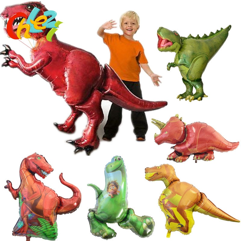 50pcs/lot NEW Dinosaur Aluminum Foil Balloon Jurassic World Globos Party for Dinosaur Party Animals Supplies Kids Birthday Gift