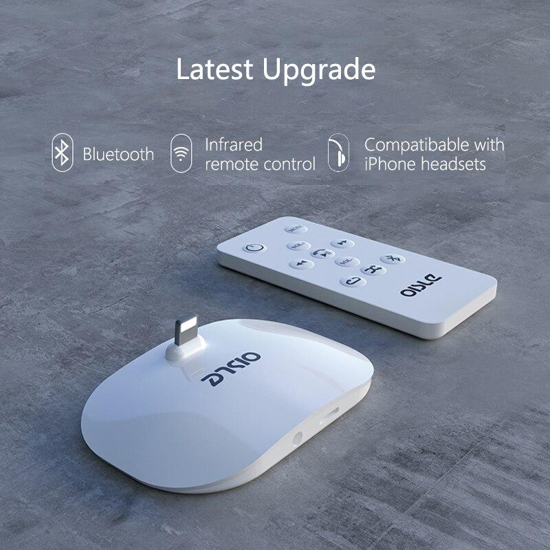 Estación de carga de Audio OISLE para iPhone 7 6X8 6s Plus 5S se estación de acoplamiento para escritorio sincronizar datos USB cargador remoto