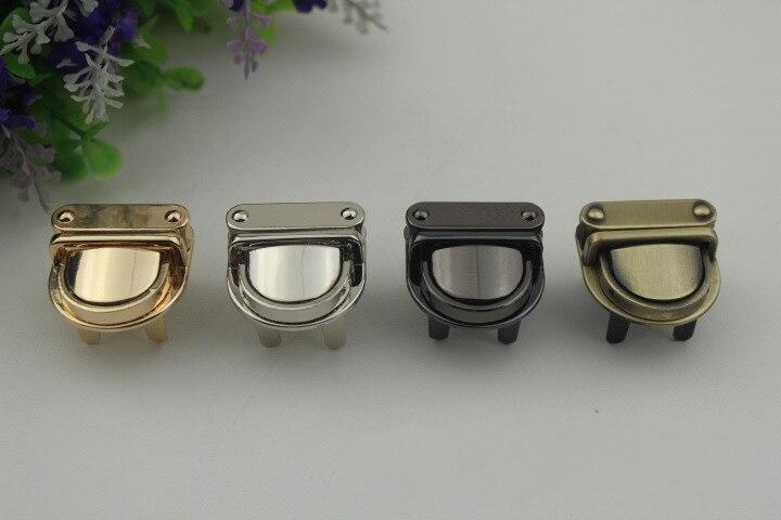 Luggage hardware accessories Metal Clasp Turn Lock Twist Lock for DIY Handbag Bag Purse Hardware Closure Bag Parts Accessories