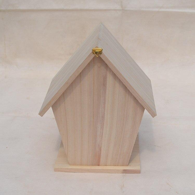 Деревянное гнездо для попугая воробья Гнездо Класса пион разведение ящик с тигром Птичий дом деревянные дома карнизы открытый птичий домик