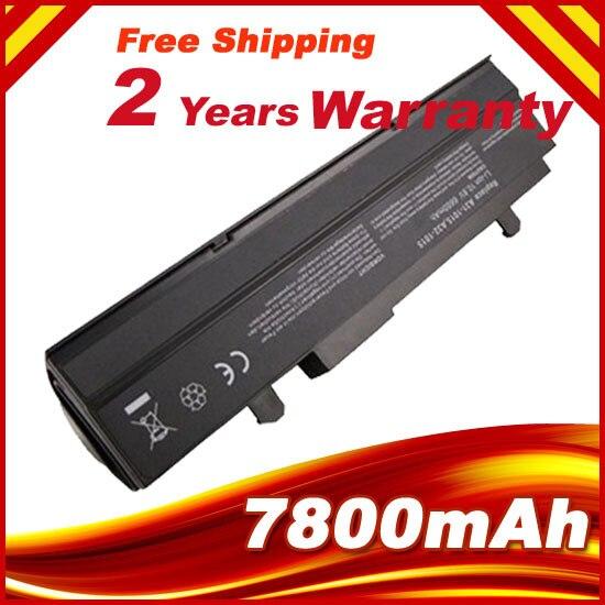 7800mAH negro batería de portátil para Asus Eee PC VX6 1011, 1015 de 1015 P 1015PE 1016 1215N 1215B A31-1015 A32-1015 AL31-1015 PL32-1015