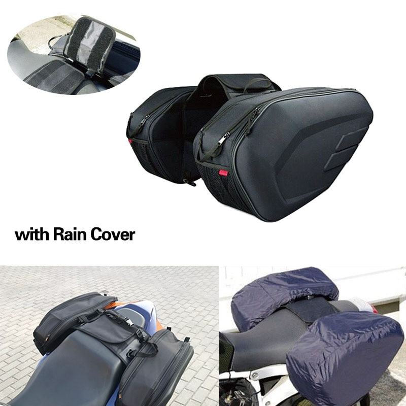 2019 nova motocicleta à prova dwaterproof água sacos de sela corrida moto capacete sacos bagagem viagem alforjes