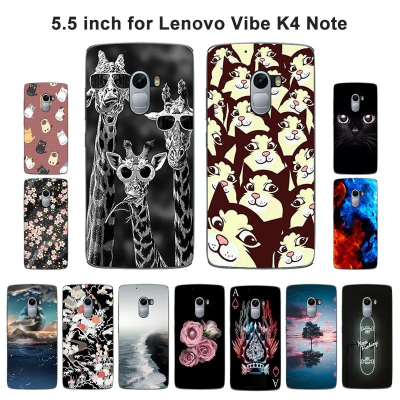 Tpu macio caso capa traseira para lenovo vibe x3 lite k4 nota a7010 blaze pintado saco do telefone casos de silicone para k4note capa