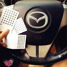 Autocollants de voiture en cristal pour téléphone   Autocollant de voiture de diamètre 3-6mm, strass auto-adhésifs, diamant scintillant, pour voiture, Transparent