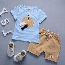 Vêtements pour nouveau-né garçon   T-shirt manches courtes + Shorts style coréen, 2 pièces, vêtements pour enfants et nourrissons, combinaisons Jogging