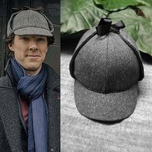 Sherlock labominable mariée Sherlock Holmes Deerstalker chapeau Cosplay accessoire Prop frisé Fu Benedict Cumberbatch