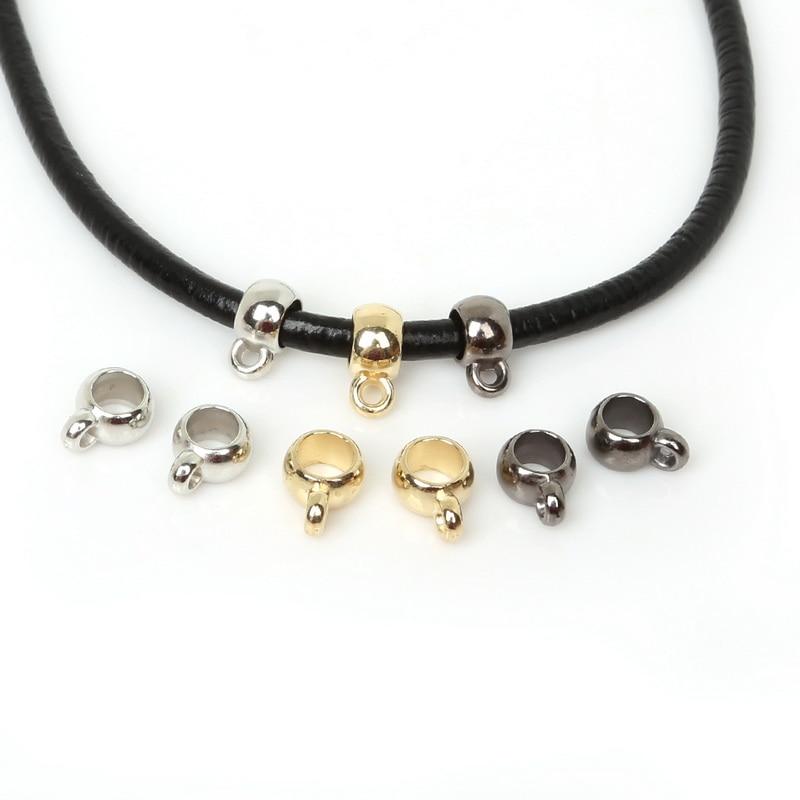 9x12mm 50 pces ouro/ródio/prata chapeado ccb tampas de extremidade grânulos crimp capas para diy colar pulseira jóias descobertas fazendo
