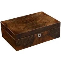 free ship cigar moisturizing box large capacity cedar wood humidor with humidifier and hygrometer hh 306