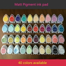 (10 teile/los) bunte Dekorative augen form pigment Kreide tinte pad tropfen matte inkpads für stempel/schrumpfen film/präge pulver