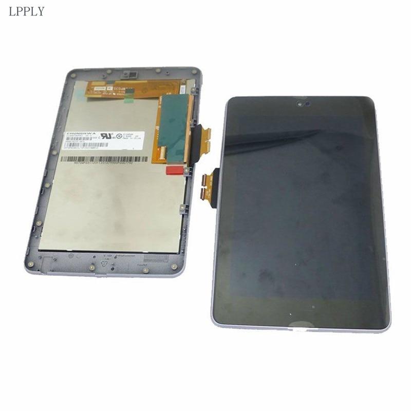 Montaje LCD LPPLY para ASUS Google Nexus 7 ME370 ME370T pantalla LCD Digitalizador de pantalla táctil cristal envío gratis
