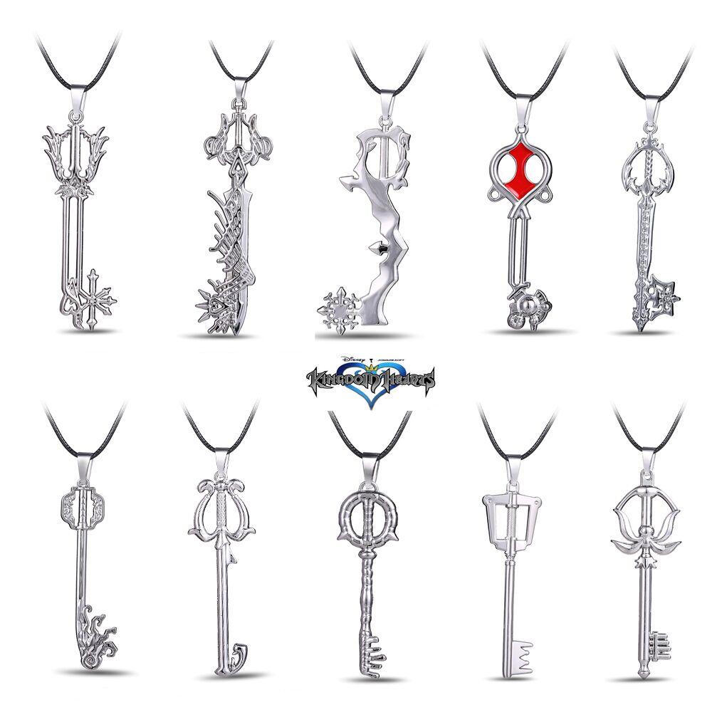 New Jewelry Hot Game Kingdom Hearts Series Alloy Game Jewelry 10 Pcs/Pack Fashion Kingdom Hearts Fans Magic Wand&Key Pendants