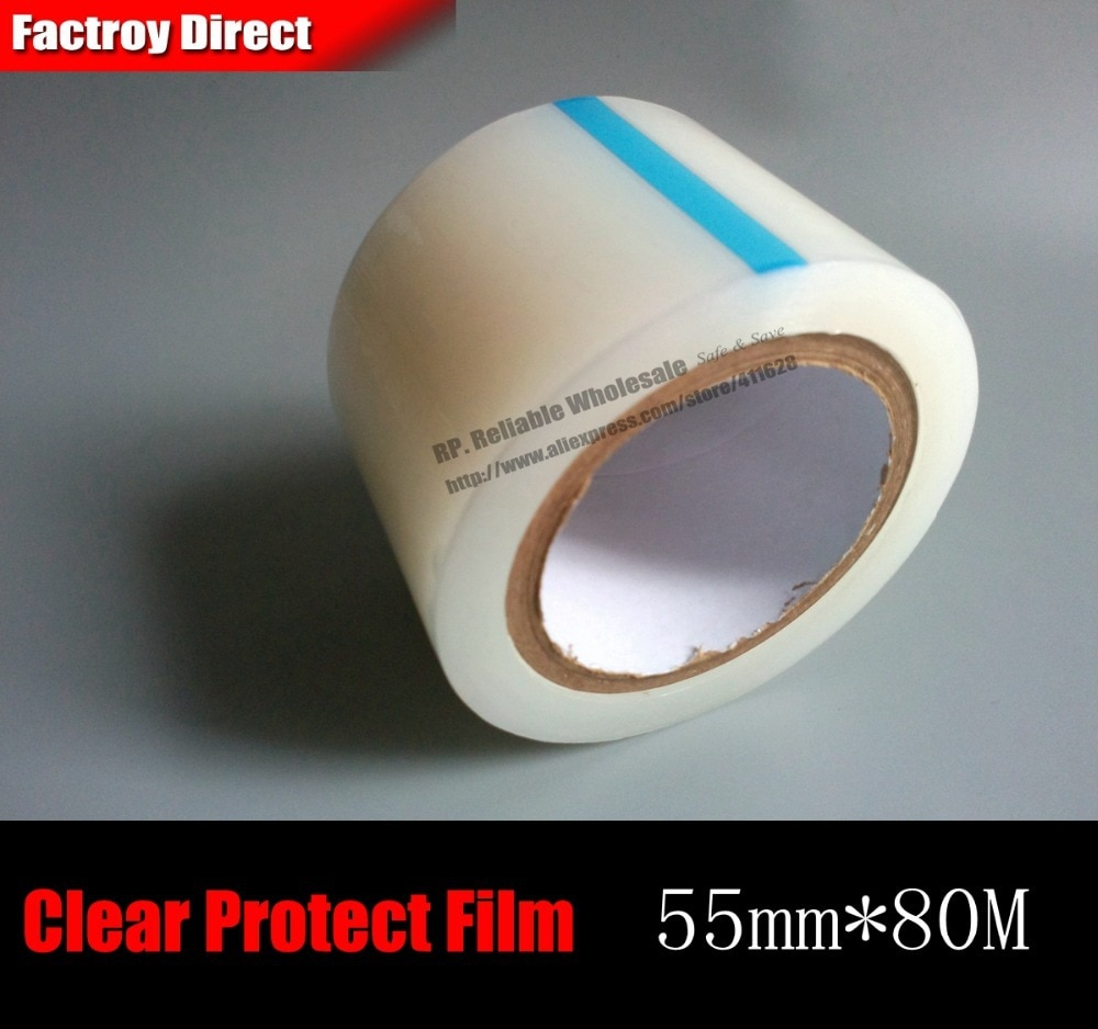 1x55mm * 80 metros película protectora transparente de PE para teléfono, tableta, Mp3 Mp4 MP5, ventanas electrónicas, vidrio LCD, marco de espejo, carcasa