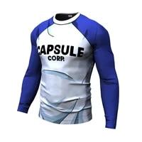 new goku men summer t shirt gym capsule corp printed casual quick dry fitness short sleeve mens t shirt men tees