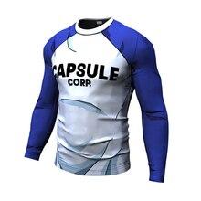 Nieuwe Mannen Zomer T-shirt Gym Capsule Corp Dragon Ball Prints Sneldrogende Fitness Korte Mouw Heren T-shirt mannen Tees