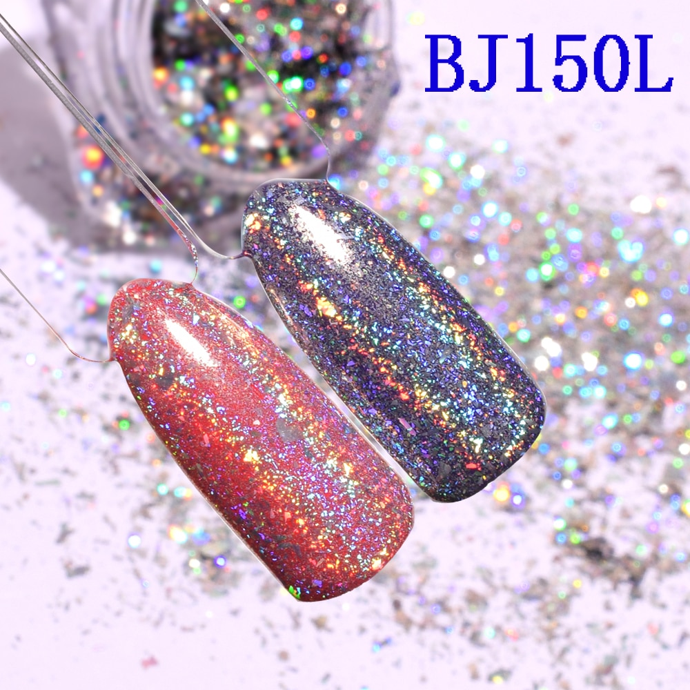 Lentejuelas holográficas para uñas, 1g de purpurina holográfica, copos de yuca para...