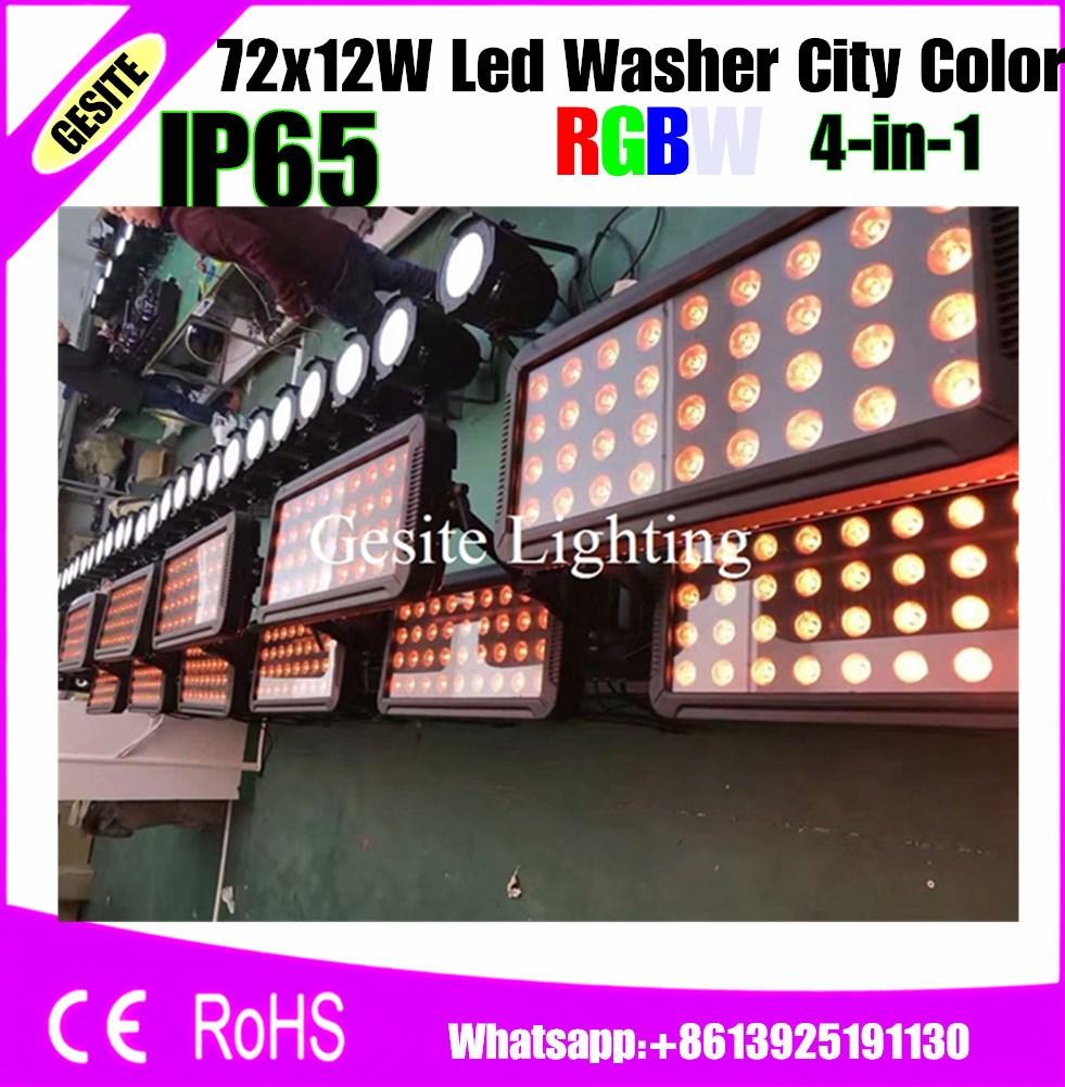 72 Uds 18w brillante LED ciudad color IP65 impermeable bañador led iluminación al aire libre