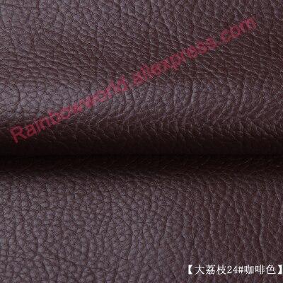 24 # coffee alta calidad guijarro gigante PU Tela de cuero como leechee para DIY sofá Mesa zapato bolsa de la cama material (50*69 cm/unid)