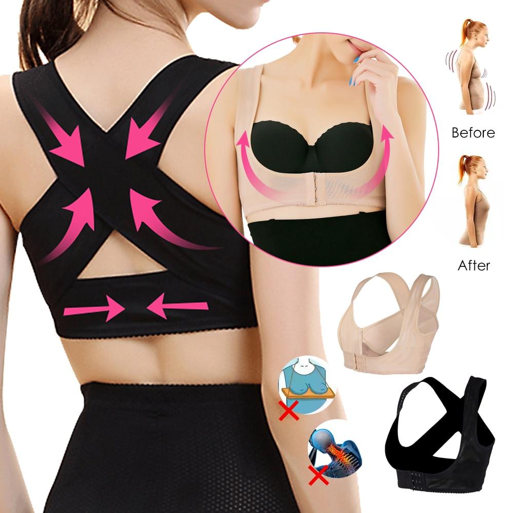 CALOFE 1PC Women Chest Brace Support Adjustable Vests Back Corrector Vest Breathable Fitness Safety