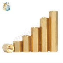 Vis hexagonale M3 laiton PCB   Vis M3 pour femmes, vis de séparation M3 * 5/6/8/10/12/15/18/20mm-100mm 20 pièces/lot