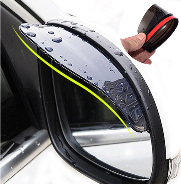 Accesorios universales para coche espejo retrovisor lluvia ceja cubierta de lluvia para Peugeot 206 307 406 407 207 208 308 508 2008 3008-6008