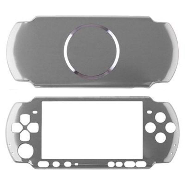 Funda rígida de aluminio plateado, carcasa protectora para Sony PSP 2000, consola delgada