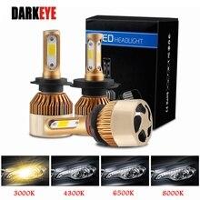 DARKEYE H1 LED H4 H11 H7 9005 9006 H8 H3 H9 880 9007 Auto Scheinwerfer Lampen 60W 8000LM 6500K 4300K 8000K 3000K COB led Lampe 2PCS