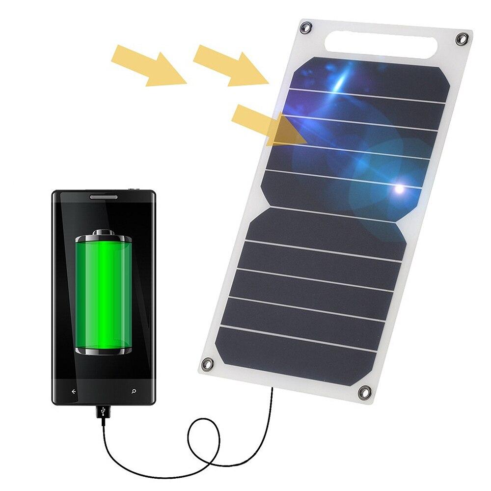 Panel Solar 5 V 5W USB monocristalino cargador de Panel Solar banco de energía de emergencia cargador rápido 5 V 1000 mA para Camping al aire libre