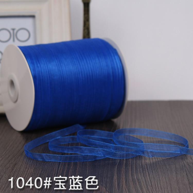 Горячая (10 метров/рулон) 6 мм Королевская Синяя Свадебная атласная лента украшение подарок Рождественская лента украшение оберточная швейн...