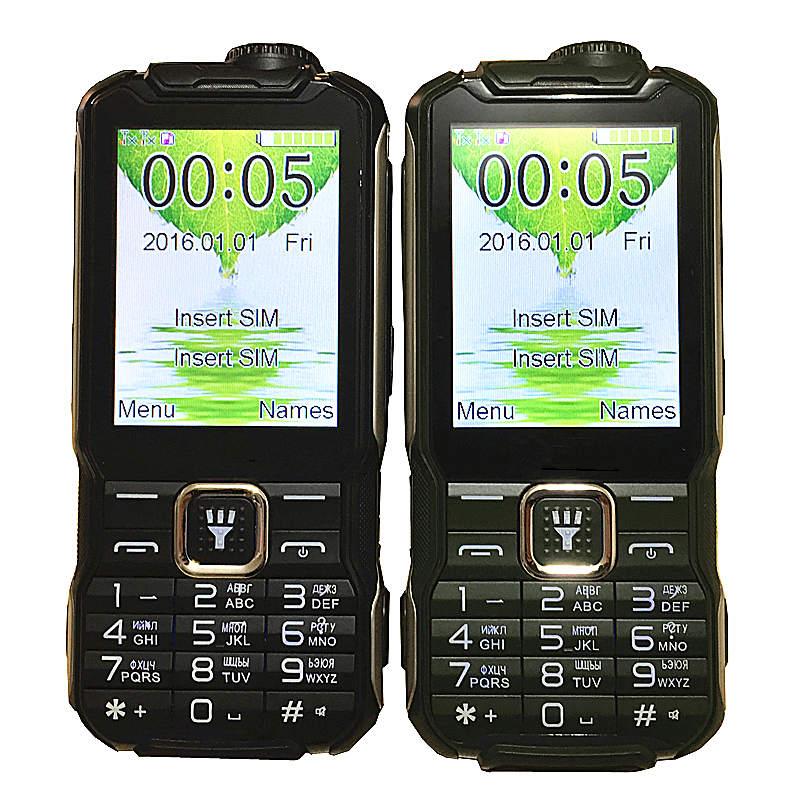 "Teclado ruso 2,8 ""power bank tarjeta SIM Dual teléfono móvil FM Dual linterna h-mobile T18"