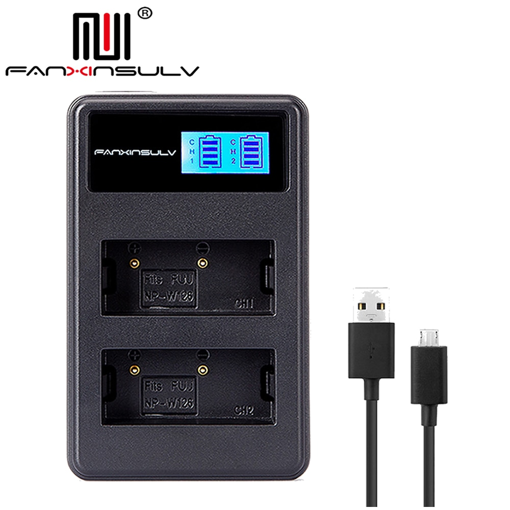 NP-W126S NP-W126 LCD USB Charger for Fujifil Fuji NP-W126S NP W126 Battery X-T3 XA5 XT20 XT2 XT1 XT100 XH1 XT10 XE3 X100F X-PRO2