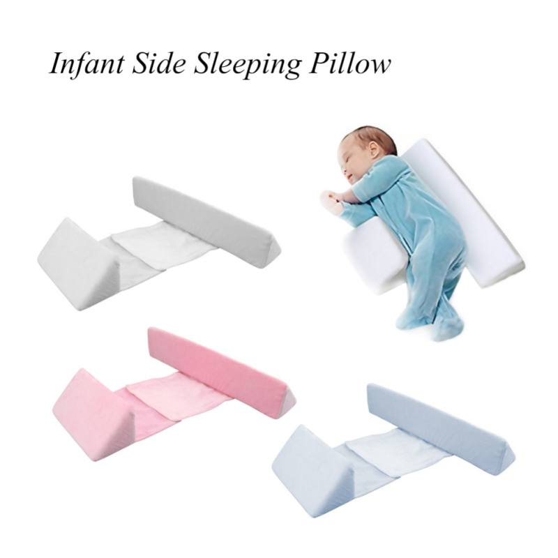 Newborn Baby Sleep Pillow Side Sleeper Pro Pillow Infant Sleep Prevent Flat Head Shape Anti Roll Pillow epic furnishings rumba perfect sit and sleep transitional style pillow top full queen size futon sofa sleeper bed