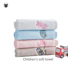 2PCS kids towel 100% cotton face/hand/hair towel soft baby towels disney children bathroom towels Cartoon pink blue white grey