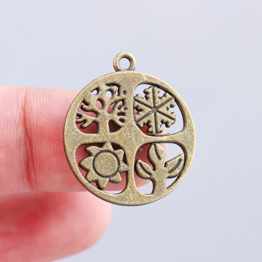 7 шт. 24X27 мм античная бронза с покрытием Подвески Классические Подвески браслет ожерелье аксессуары милые модные сезоны