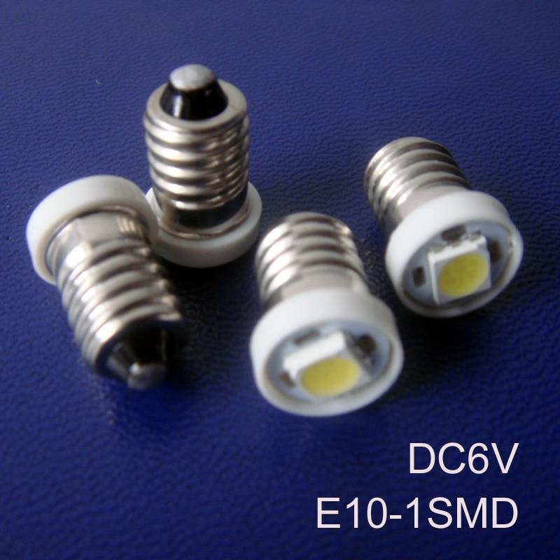 Alta calidad DC6.3V E10, luz Led E10, Led E10, Bombilla E10 6V, lámpara LED E10, luz E10 6,3 V, lámpara indicadora E10, envío gratis 50 unids/lote