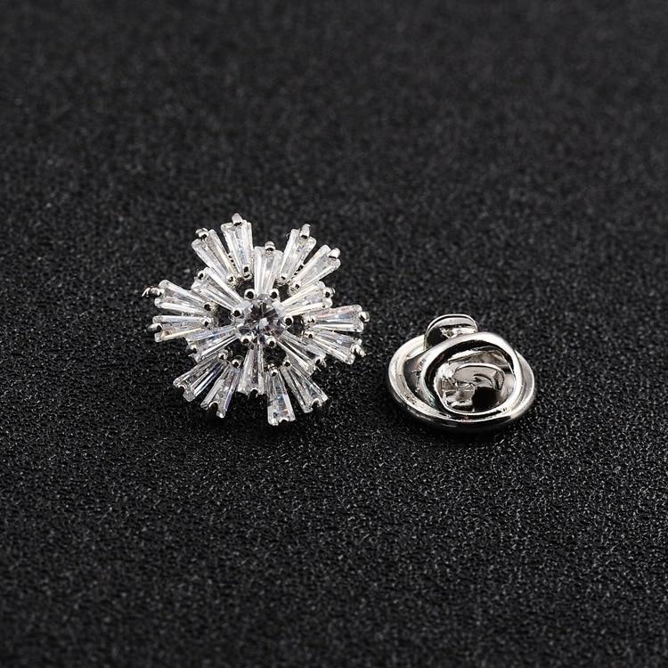 Roupas fixas antiderrapante broche coreano zircon floco de neve anti-leve cardigan camisola fivela colar pino feminino jóias acessórios