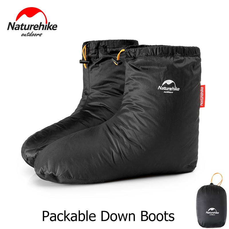Naturehike Packable אווז למטה מגפי חורף תרמית גרביים הנעלה עבור גברים נשים חיצוני מסלולי טיולים קמפינג שינה תיק אבזרים