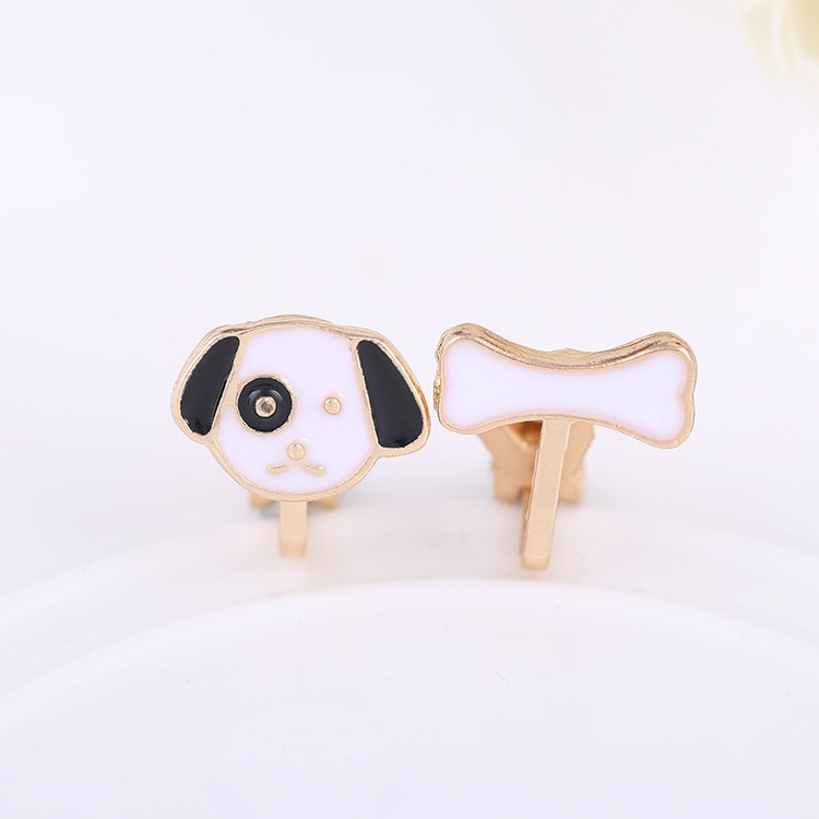 Genuine puppy cute earrings clip pierced for men and women free Korean girls factory wholesale|earring supplies|earrings topearrings 14k |