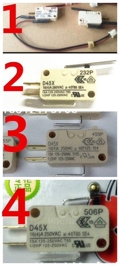 D45X 16A, todas las series importadas, interruptor de botón limitador de carrera de micro desplazamiento original.