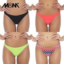 M & M femmes brésilien Bikini bas Micro Sport conseil Shorts filles Bikini ensemble Sexy tongs 2019 maillot de bain slip de bain B604