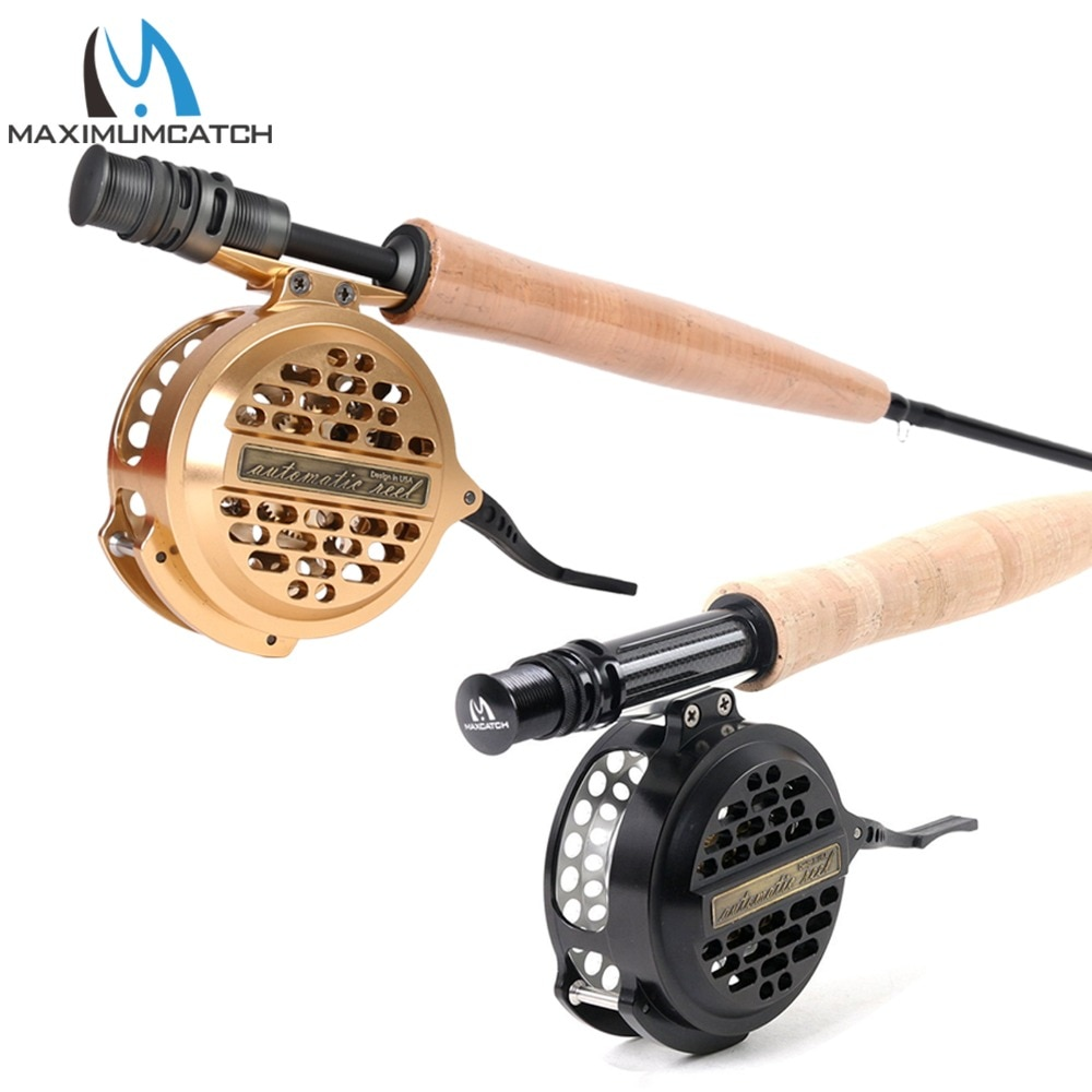 Maximumcatch Automatic Fly Fishing Reel Machined Aluminum Y4 70 Super Light Silver/Black Fly Reel enlarge