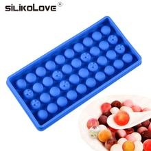 SILIKOLOVE 1 pcs Mini Ice Cube Silicone Mold Ball Maker Bal Vierkante Whiskey Wijn Cocktail Party Bar Accessoires BPA Gratis