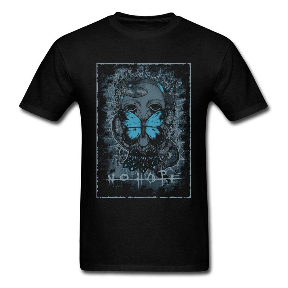 Camiseta Hombre Camisetas No Hope Vintage camiseta mujer verano algodón tela cuello redondo Fitness camisetas marca manga corta Camiseta Negro Azul