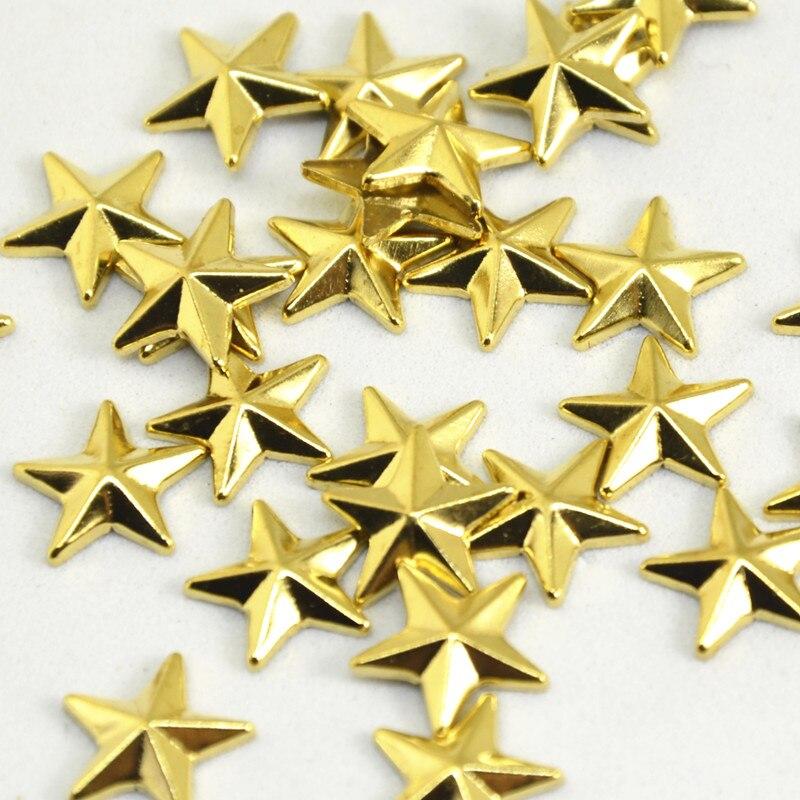 Nova estrela forma quente fix strass ouro cobre prata para roupas/sapatos/sacos diy acessórios 8mm 10mm 12mm