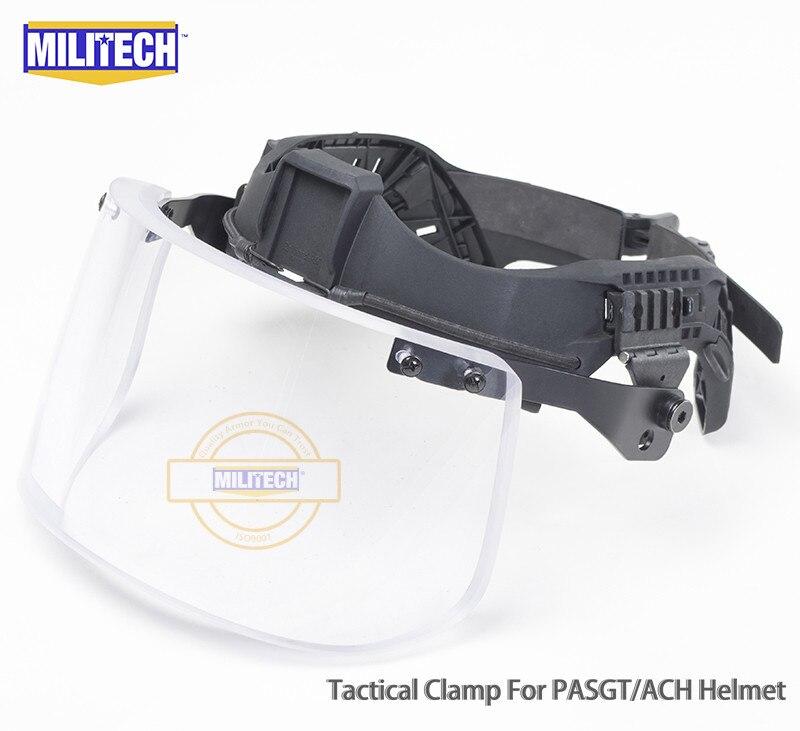 MILITECH NIJ IIIA 3A التكتيكية الرصاص قناع ل خوذة البالستية قناع رصاصة واقية قناع ل ACH PASGT البالستية خوذة