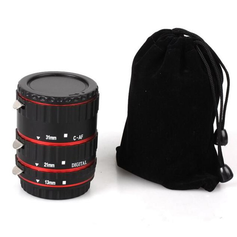Anillo tipo tubo de extensión enfoque automático af confirmar Macro anillo de montaje de Metal para lente Canon EF-S T5i T4i T3i T2i 100D 500d 60D 70D 550D rojo