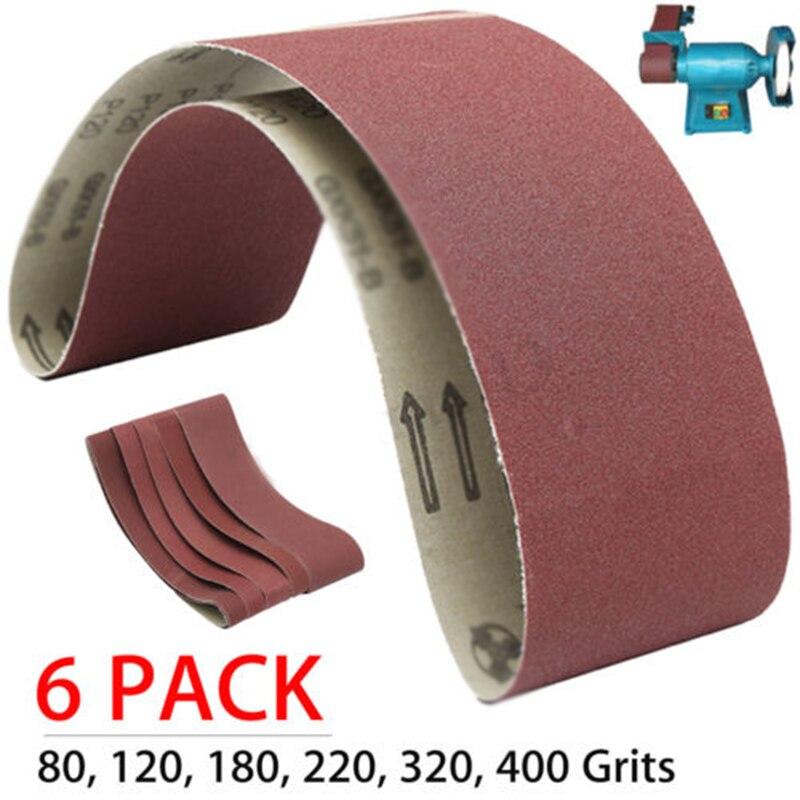 6 Pack 4 X 36 Inch 36 Grit Aluminum Oxide Multipurpose Sanding Belts Tools Workshop Equipment Sander Parts Accessories
