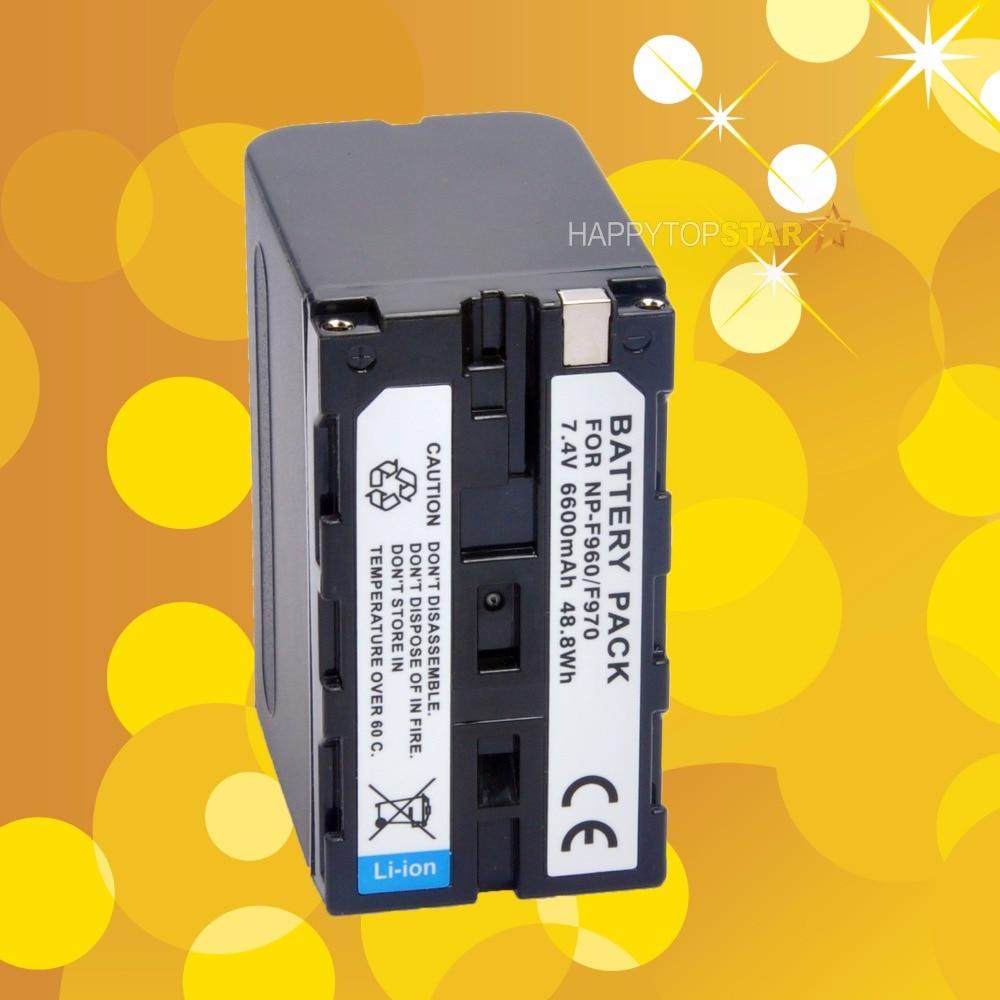 Hoge capaciteit Voor Sony F970 6600mAh 7.4V 48.8Wh Batterij voor Godox LED P120C 260C 308C II LED120 LED170 120 P260C CN-126 CN-216