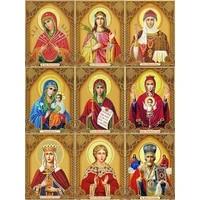 MTEN     peinture en diamant carre de Madonna  broderie complete 5D  pour decoration de maison  bricolage  mosaique  cadeau en strass